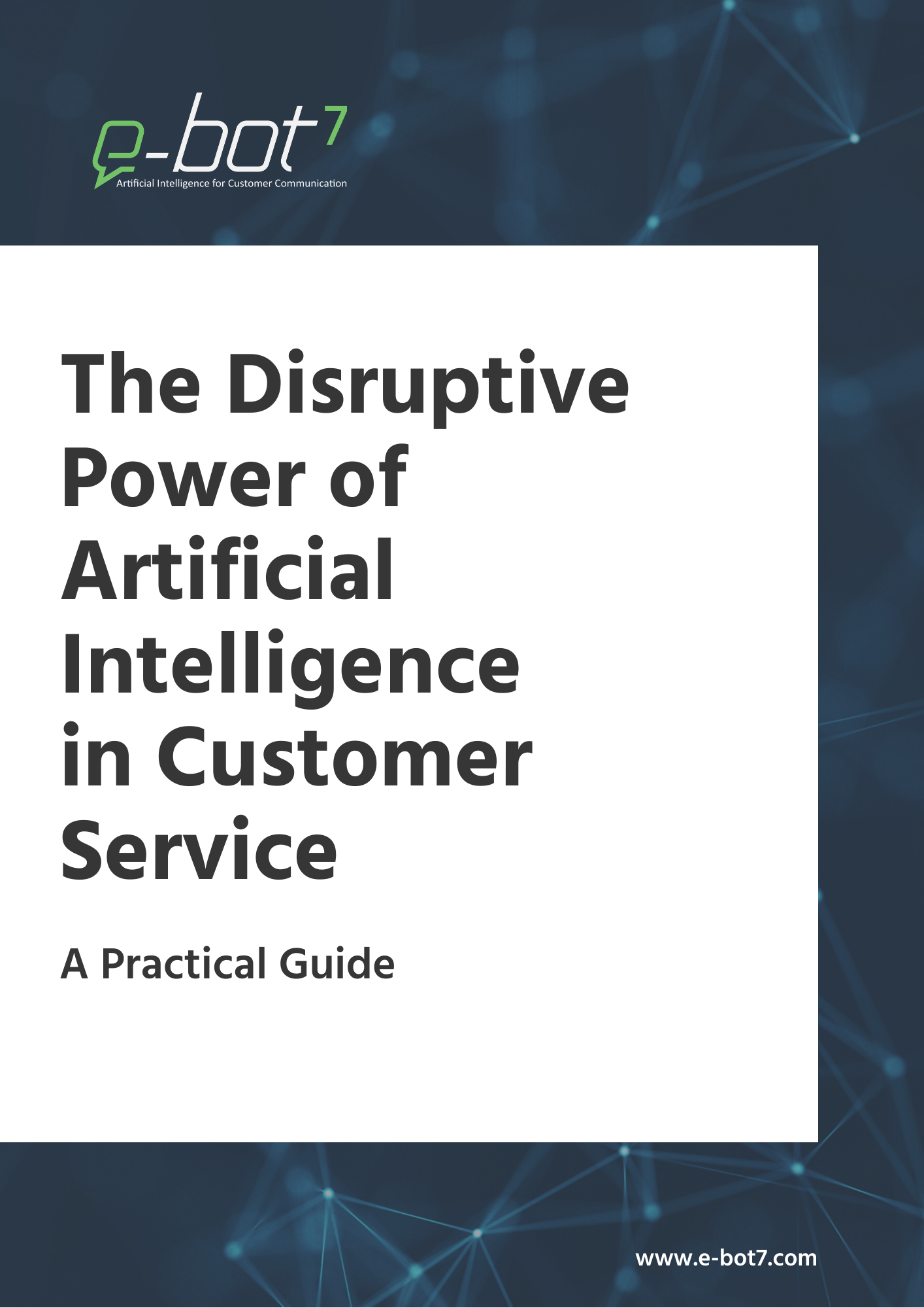 E-book The Disruptive Power of Artificial Intelligence in Customer Service
